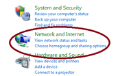 Click on Network and Internet