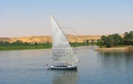 The Nile river and the boat