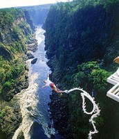 jumping off the Victoria falls