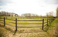 2 fenced pastures.