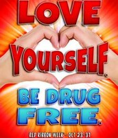 Love Yourself. Be Drug Free.
