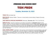 Tide Pride - School Bulletin