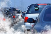 Car's gas is unhealthy for the air. It causes Air Pollution, it's bad for the environment.