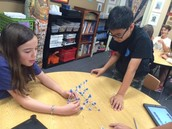 Math Club students construct fractal tetrahedra