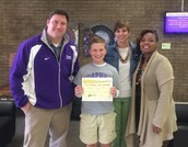 Hunter Sessions Awarded as an EMC Shining Star Student