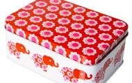 Blafre Red Elephants Sandwich Tin