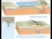 Zona de convergencia entre dos continentes
