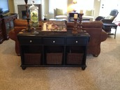 SOFA TABLE (BLACK)  SOLD!