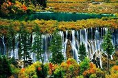 beautiful waterfall scenery