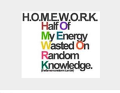 2. Homework give you a negative output on school