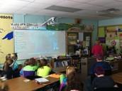 Coach McCutcheon in Mrs. Meyer's Class