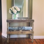 Rustic Foyer Table (only table)