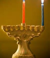 The Red candle is the Shamash