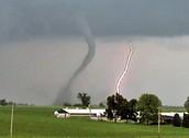 lightig and tornado
