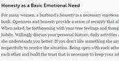 Honesty article