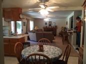 Kitchen open tofamily room.