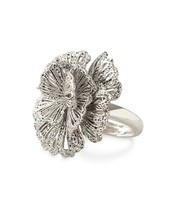 Geneve Lace Ring - Silver (adjustable size)
