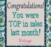 Top in August Sales