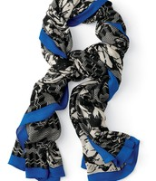 Union Square Scarf - midnight bloom - SOLD