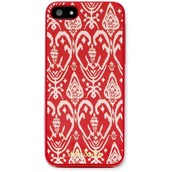 iPhone 5 Case, Red Ikat