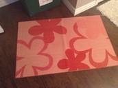 Pink flower mat - SOLD !