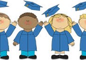 Kinder Graduation: June 8 @ 10:30am