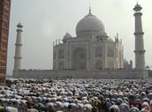 People at the Taj Mahal