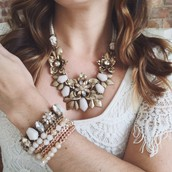 floral jewelry to