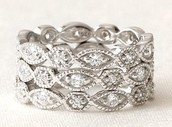 Deco Rings- SIZE 8