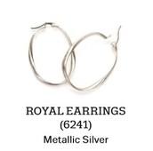 Royal Earrings in Metallic Silver