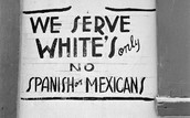 A sign saying only whites are allowed