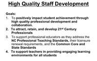High-Quality Professional Development