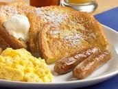 El huevo y carne comida