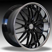 22X10.5 5X120 +24 BLACK CHROME RIMS WHEELS