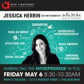 Jessica Herrin will be in Philadelphia on Friday 5/6 for her book tour!