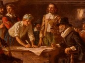 Pilgrams Signing Mayflower Contract