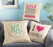 10% Off Any Canvas Pillows Designed with Pink!