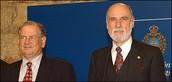Robert E Kahn & Vint Cerf