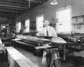 Robert H Goddard and his rocket in Roswell New Mexico