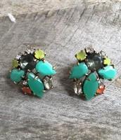 SOLD Naomi Cluster Earrings