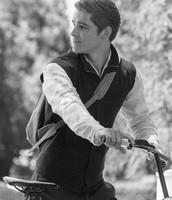 Jonas Riding His Bike