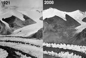 Smelten van de gletsjer