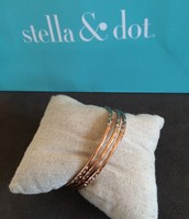 Rhea Bangles Set of 3 Rose Gold - $20