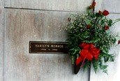 The marble on Marilyn's crypt
