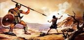 אתה בא אליי בחרב ובחנית ובכידון, ואנוכי בא אליך בשם יהוה צבאות