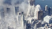 After the planes stopped crashing into the towers the 2 towers collapsed.