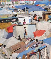 Tent city near Port au Prince
