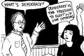 strip over democratie