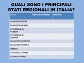 I principali Stati Regionali
