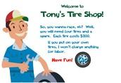 """""""Tony's Tire Shop"""" - Игра за момчета"""